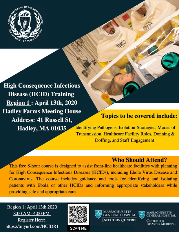 Training: High Consequence Infectious Disease Planning and Response for Healthcare